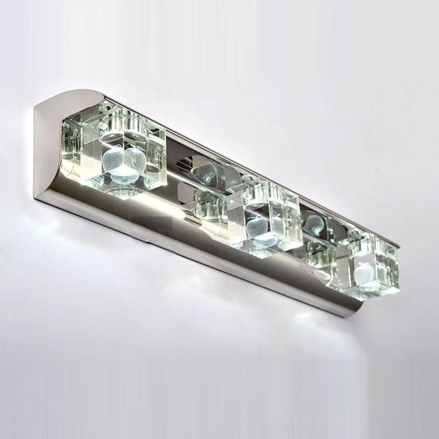 9W LED Washroom Crystal Bathroom Wall Lights Laser Inside Apple Design  Jewel Box Crystal Mirror Front