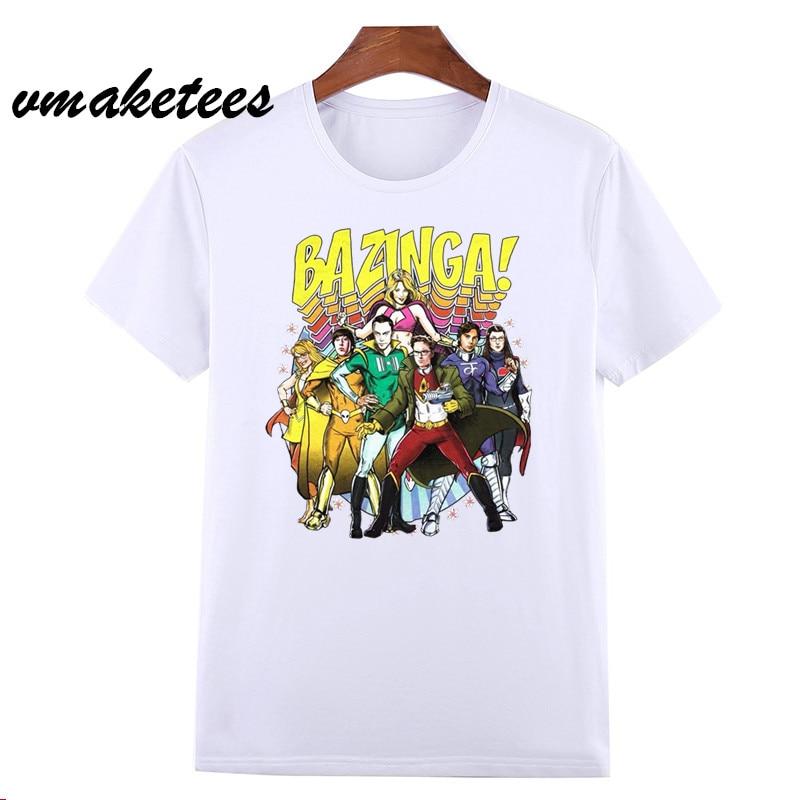 The Big Bang Theory Sheldon Penny Men T Shirt Summer Short sleeve T-shirt Fashion New Men T-shirt HCP4564