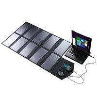 60 w sunpower portátil folding painel solar charger com dc 18 v e usb 5 v saída do carregador para laptop notebooks tablet