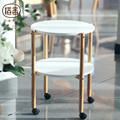 ZEN'S BAMBOO Tea Table  Double Layer Movable Coffee table with Castor Bamboo table  Living room/bedroom furniture