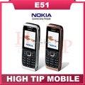 Nokia E51, teléfonos móviles Bluetooth JAVA Unlock WIFI teléfono celular reparado