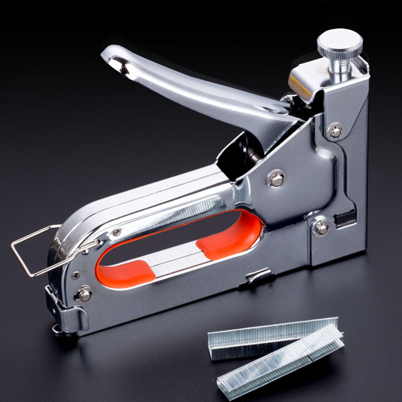3 way Manual Heavy Duty Hand Nail Gun Furniture Stapler For Framing with 600pc Staples By Free Woodworking Tacker Tools DIY TOOL in Riveter Guns from Tools
