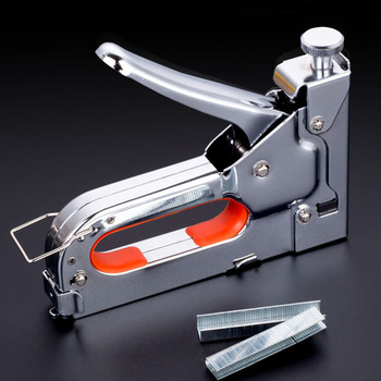 3-way Manual Heavy Duty Hand Nail Gun Furniture Stapler For Framing with 600pc Staples By Free Woodworking Tacker Tools DIY TOOL