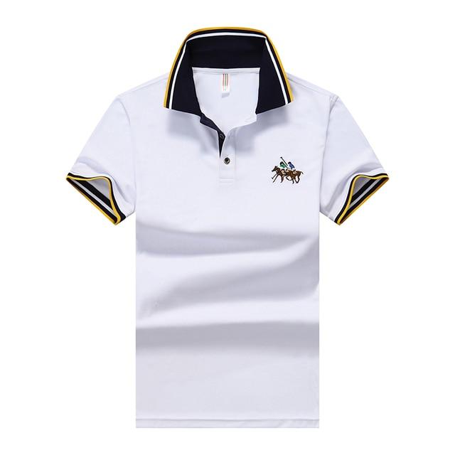 Летом новый дизайн моды tee brand polo shirt мужчины homme мужская футболка хлопок короткий рукав TS110