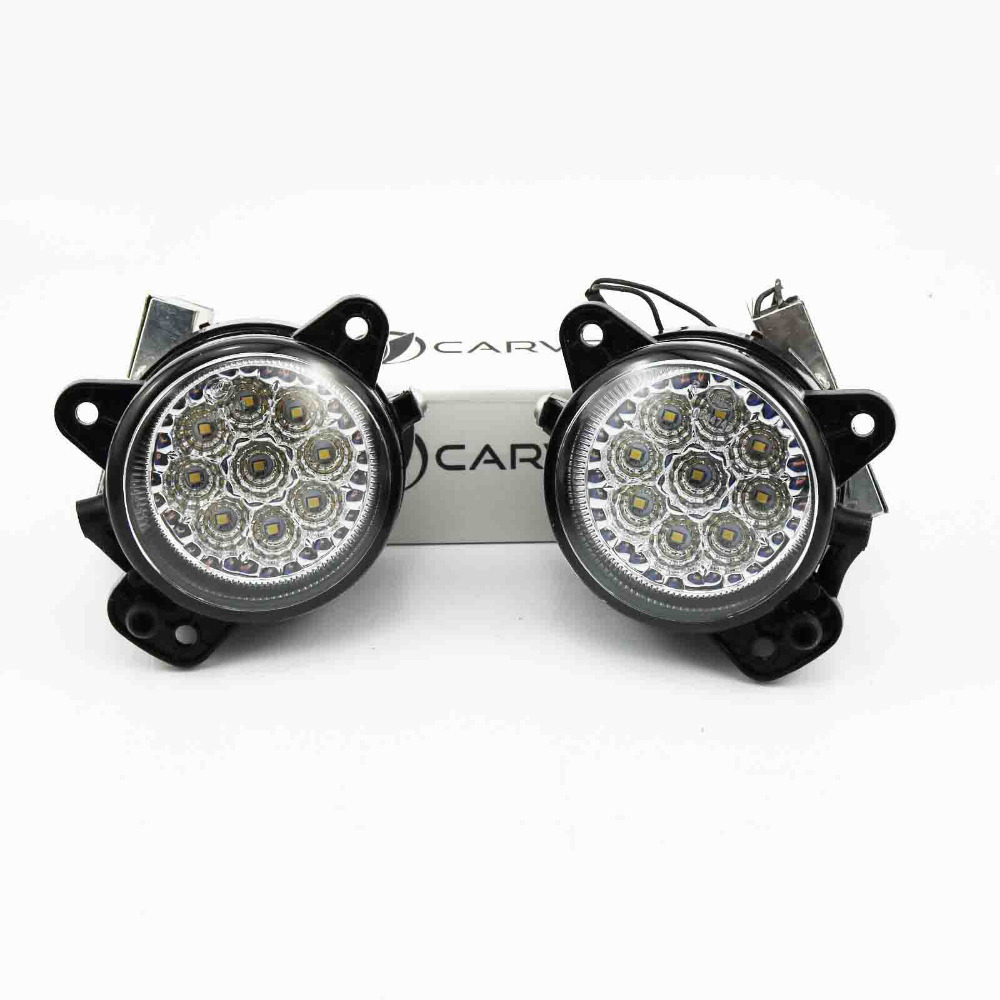 2Pcs LED Light For VW Polo 2005 2006 2007 2008 2009 2010 Car Styling Front Fog Light Fog Lamp free shipping for vw polo 2005 2006 2007 2008 new front left side halogen fog light fog light with bulb