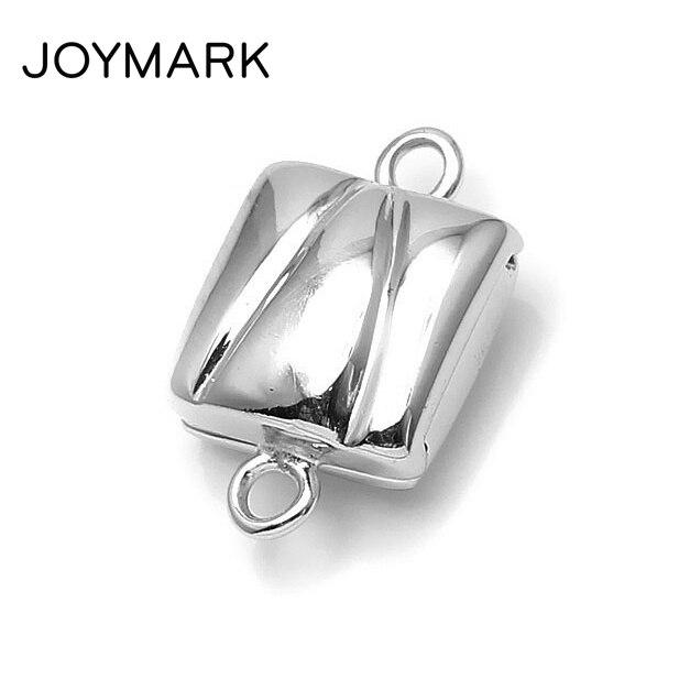 JOYMARK New Arrival 14.5x8.8mm Square Shape 925 Sterling Silver Magnetic Clasps For Pearl Bracelet Necklace Making SC MC002