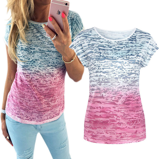 Ladies Cotton Casual Short Sleeve T-Shirt