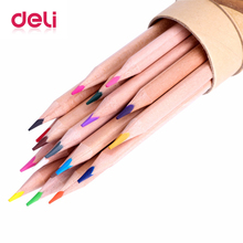 цена на Deli 18 Colors Colored art Pencil set Stationery office school supplies pencil artist Painting kawaii Drawing pencil