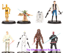 NEW hot ! 8pcs/set 10cm Star Wars 7 The Force Awakens R2-D2 C-3PO Darth Vader shine action figure toys Christmas doll