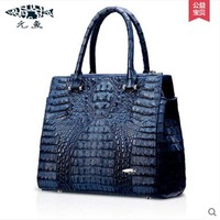 Yuanyuqijiandian New Euramerican Fashion Lady Real Crocodile Skin Bag Imported Caiman Leather Crocodile Grain Women Handbag