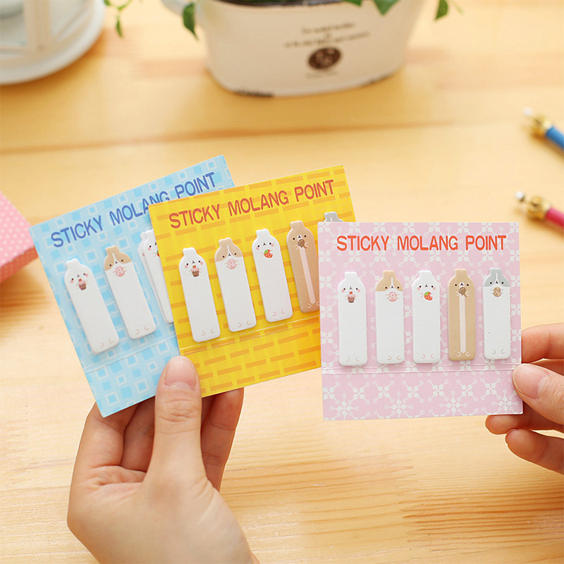 20 sets/1 lot Creative rabbit Memo Pad Sticky Notes Escolar Papelaria School Supply Bookmark Post it Label