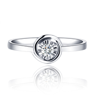 18K Gold Diamond Ring Woman Married Marriage White Diamond Platinum A Carat Genuine Custom