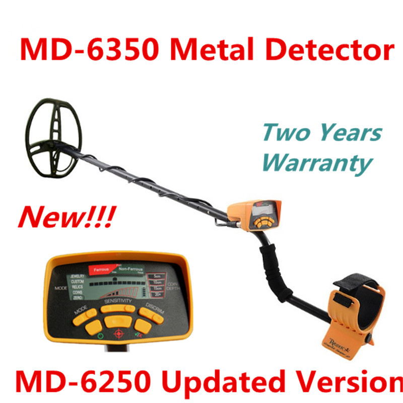 Two Years Warranty MD-6350 Underground Metal Detector Gold Digger Treasure Hunter MD6350 Professional Detecting Equipment lowest price hot md 3010ii underground metal detector gold digger treasure hunter md3010ii ground metal detector treasure seeker
