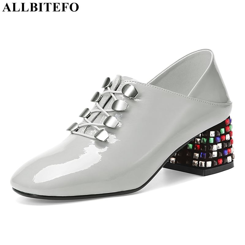 ALLBITEFO large size:33-42 Color diamond heel party women shoes genuine leather high heels office ladies shoes women heelsALLBITEFO large size:33-42 Color diamond heel party women shoes genuine leather high heels office ladies shoes women heels