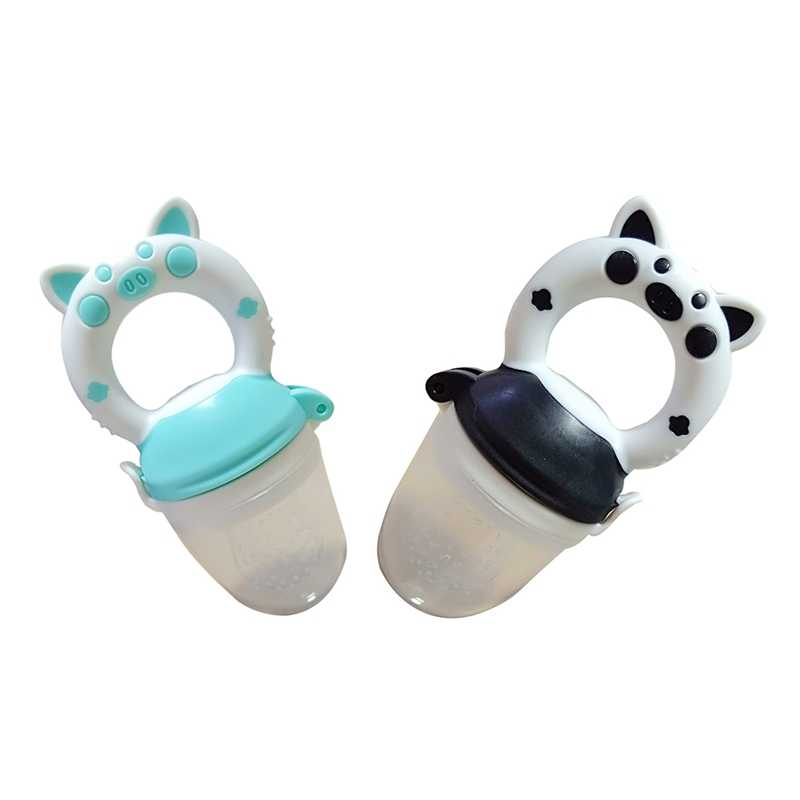 2019 Baby Pig Bottle Feeding Fruit Vegetable Newborn Food Supplement Bite Juice Feeder Baby Nimbler Pacifier For Fruit Portable