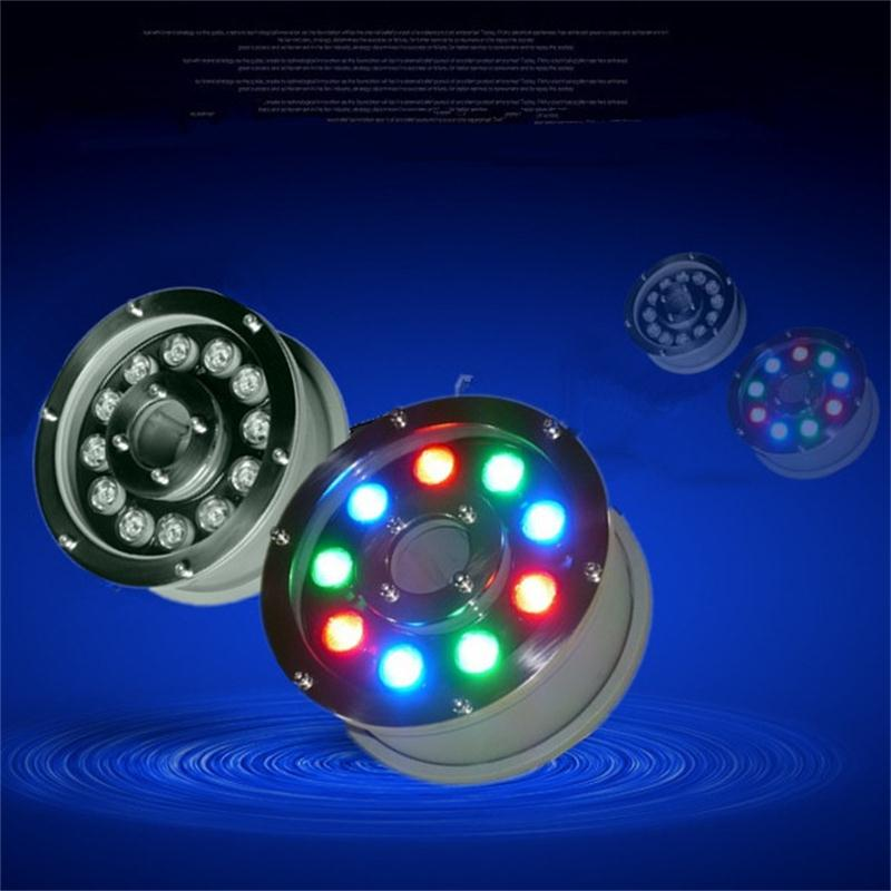 RGB LED Underwater Light 9W Swimming Pool Pond Fountain Aquarium Lamp Bulb Waterproof IP68 Iluminacao DC12V Remote Controller underwater lights rgb led swimming pool light 24v ip68 waterproof 27w 316 stainless steel colorful changeable fountain lamp