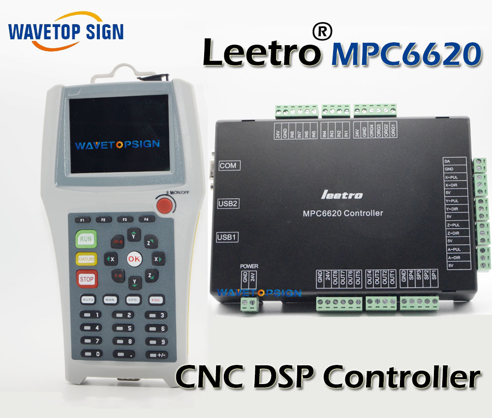 free shipping leetro MPC6620   controller  cnc router machine control card  cnc router machine dsp mpc 6630 economic leetro mpc 6525a 6535 motion controller for co2 laser cutting machine upgrade of 6515