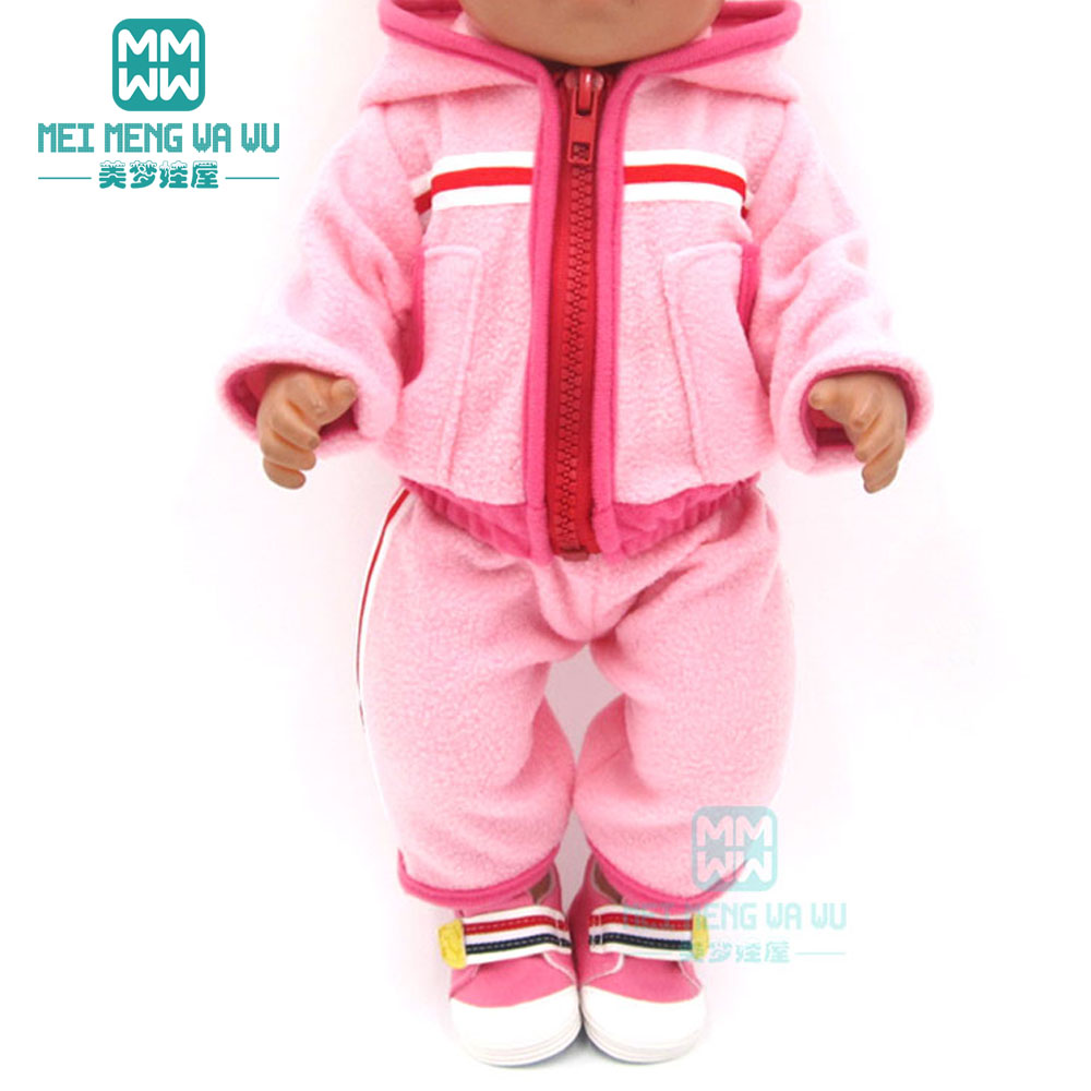 Baby Clothes Fashion Casual Motion Jacket For 43 Cm Toy New Born Doll Accessories And 45 Cm American Doll