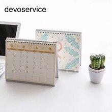 1Pc Cute 2018 Desktop Calendar Korean Cute Cartoon Calendars DIY Plan Notebook New Year School Home Office Supplies