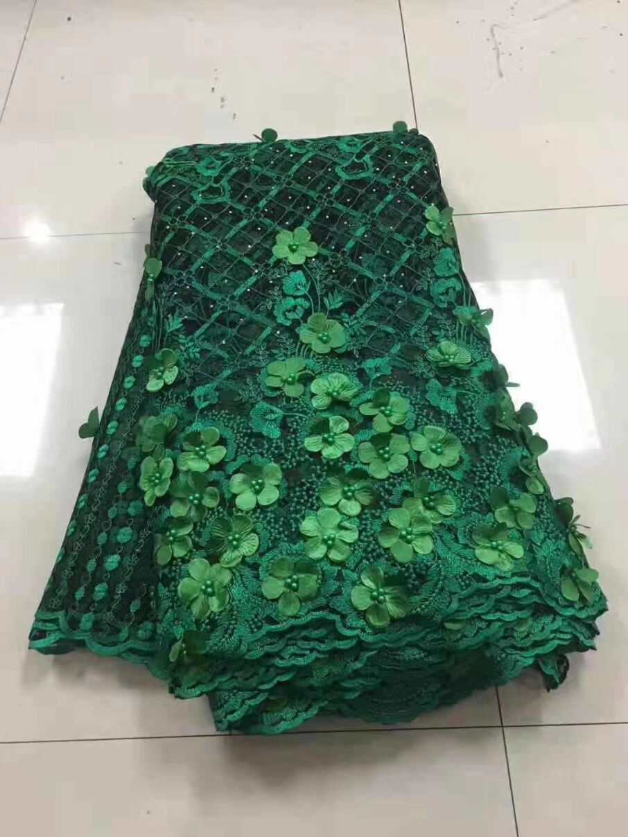 2018 Latest Nigerian Laces Fabrics High Quality African Laces Fabric For Wedding Dress French Tulle Lace