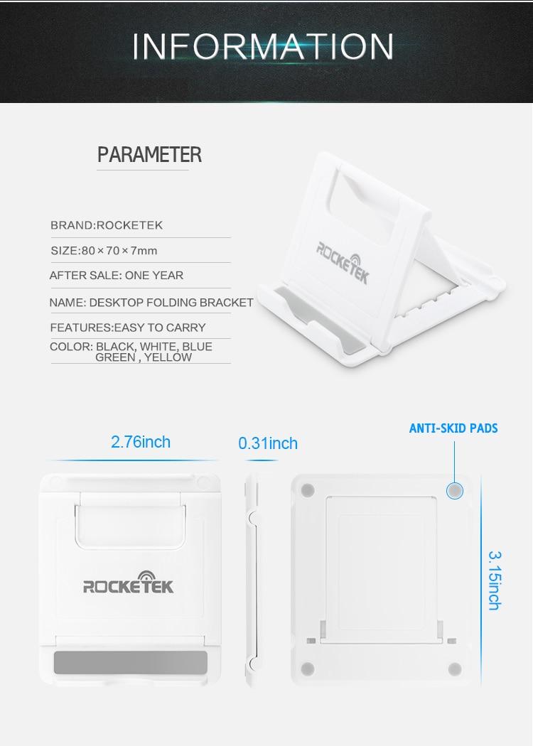 Rocketek Regulowany Składany Telefon komórkowy Tablet Biurko Stojak Uchwyt Smartphone Uchwyt Telefonu komórkowego dla iPad Samsung iPhone 7