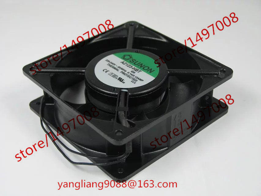 SUNON A2123-HBT GN AC 220V-240V 0.14A/0.12A   120x120x38mm Server Square  Fan free shipping for sunon gb1207ptv2 a 13 b4396 f gn dc 12v 2 2w 3 wire 3 pin connector 70mm 70x70x25mm server square cooling fan