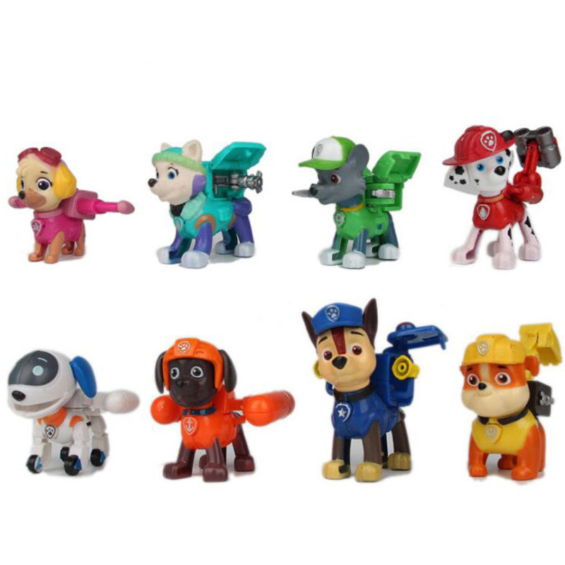 2017 Canine Patrol Dog Toys Russian Anime Doll Action Figures Car Patrol Puppy Toy Patrulla Canina Juguetes Gift For Children model anime puppy pow patrol dog action figures back to power car with light and music puppy patrulla canina toy baby kids toys