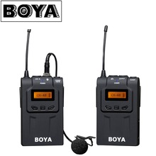 Boya by-wm6 uhf-ultrahochfrequenz-chip 48 kanal kamera wireless lavalier-mikrofon system für canon dslr sony camcorder