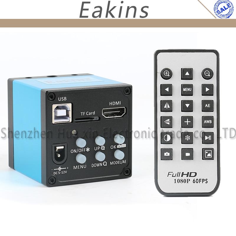 1080 p 16MP HDMI USB Vidéo Industrielle Microscope Caméra C-montage TF Enregistreur Vidéo IR À Distance Contrôleur Pour Biologique microscope