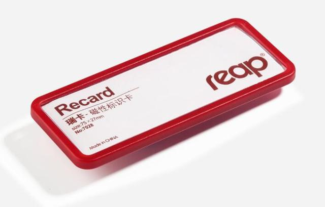 75x27mm reap magnetic student worker employee id name card holder