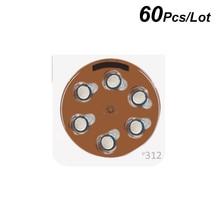 Hearing Aid Power e312 1.4V Zinc Air Button Battery A312 Brown Tab Cells P312 Coin Cell Batteies PR41