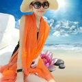 Free shipping is prevented bask in summer scarves uv beach towel in the spring and autumn long shawl A gauze scarf