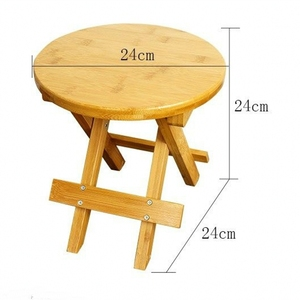 Image 2 - High quality Bamboo made Small Bench Portable Fishing Stool Wood Folding Stool Cheap and Good Home Furniture