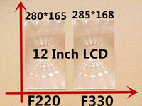 2pcs/set rectangle optical PMMA plastic fresnel lens with HD fine groove pitch for 12 inch professional diy projector kit