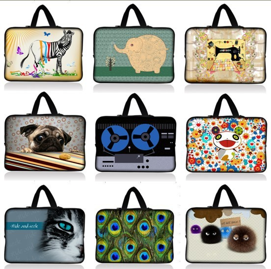 """HOT 10"""" Coffee Girl Laptop Sleeve Bag Case Pouch+ Hide Handle For 9.7""""-10.2"""" Apple, ASUS,ACER, HP,DELL Netbook Laptop Tablet PC"""