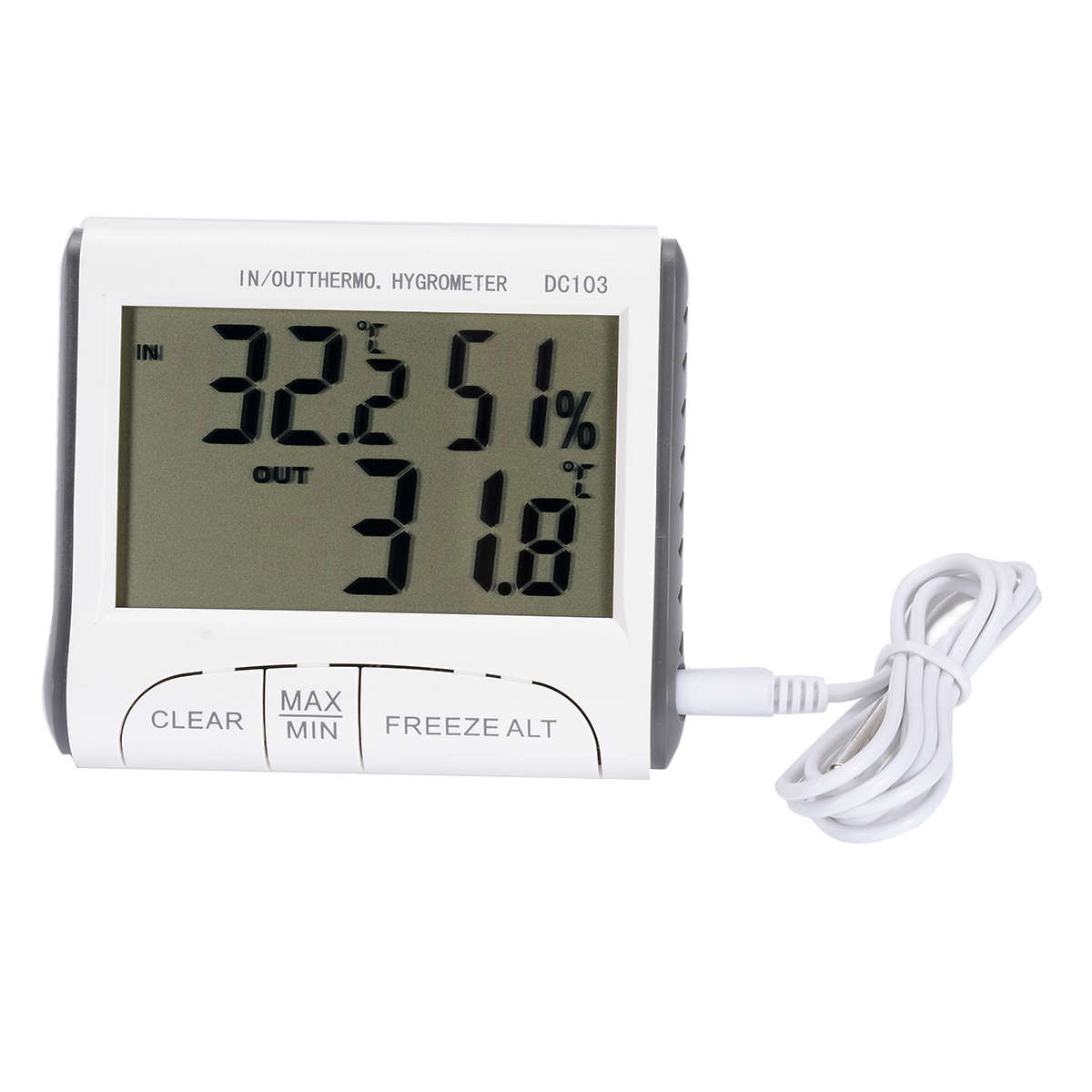 2019 New 1pc Digital Wireless Indoor Outdoor Thermo Hygrometer Thermometer Humidity Meter in Tool Parts from Tools