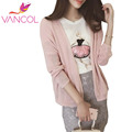 Vancol Fashion Batwing Sleeve Sweater Sweet Girls Loose Korean Style 2016 Women Coat All-Match Summer Knitted Cardigan