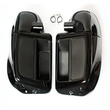 Vivid Black Lower Leg Warmer Vented Fairing Glove Box For Harley Touring Road King Street Electra