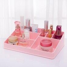Новый дизайн утолщение пластиковая коробка макияж организатор Творческий большой ящик для хранения организатор офисный стол