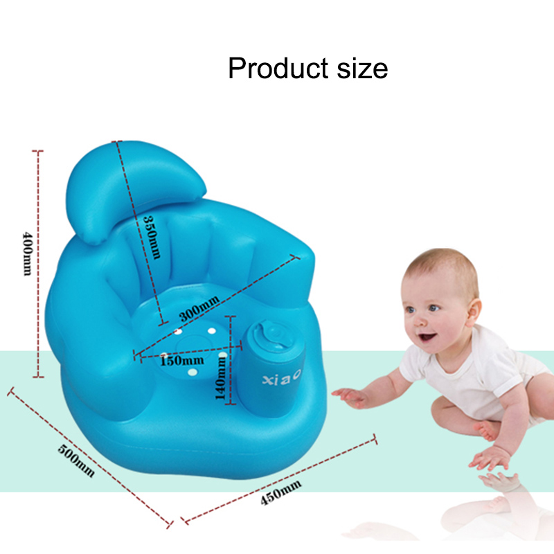 2018 New Baby Kid Children Inflatable Bathroom Sofa Chair Seat Learn Portable Multifunctional Shipping from Russia