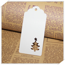 50pcs DIY Kraft Christmas Tree Shape Hang tag Christmas Party Decoration