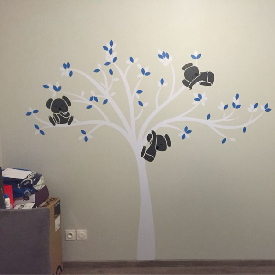 Free shipping oversized large koala tree wall decals for baby free shipping oversized large koala tree wall decals for baby nursery baby nursery vinyl wall decor stickers t3026 in wall stickers from home garden on amipublicfo Choice Image