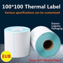 Три анти-термальные этикетки 100*100*500 Amazon FBA внешняя этикетка корпуса, EUB логистика Labe land наклейка на упаковку, водонепроницаемый
