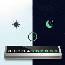 Parkeer Telefoonnummer Plaat Card Verborgen Auto Mobiele Tijdelijke Stop Teken Metalen Tijdelijke Parkeerkaart