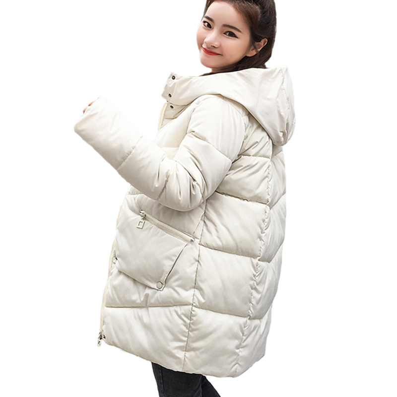 parka   women 2018 Winter Jacket Women Coats Hooded Coats Female   Parka   Thick Cotton Padded Lining Winter Female Coats
