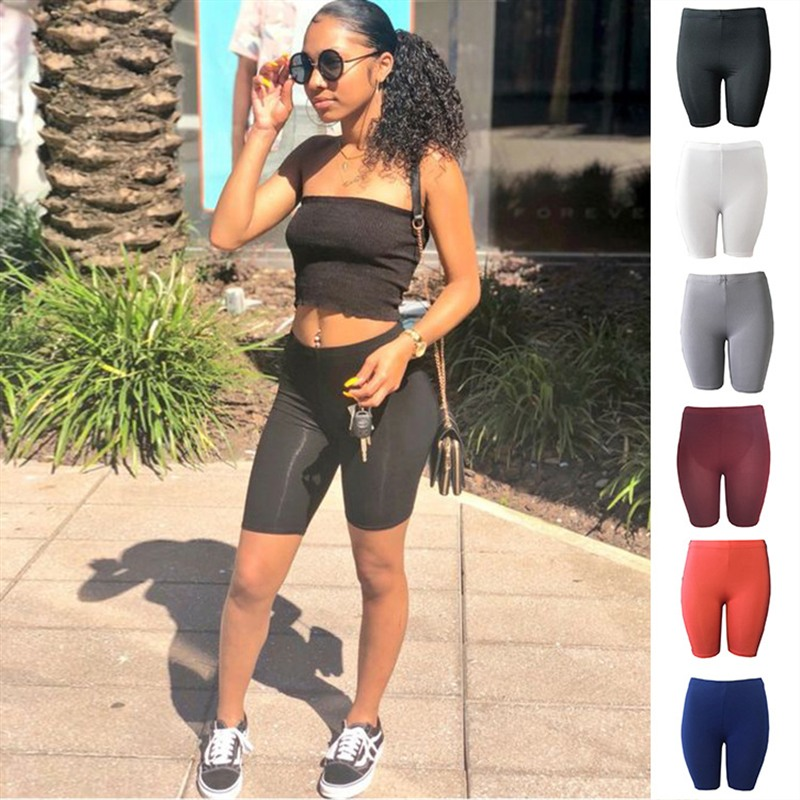 Women Leggings High Waist Denim Beach Skinny Sexy Hot Short Casual Korte Legging Girls Leggings Court Ladies Black Biker