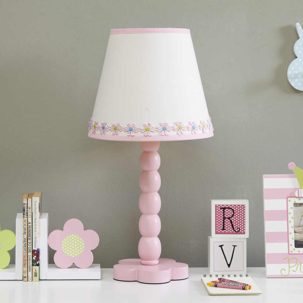 Table Lamp For Girls Pink Lamps The Bedroom Led E27 Flower ...