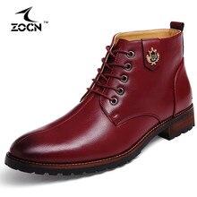 ZOCN Men Boots Cow Split Leather Boots Men Shoes Ankle Timber Cowboy Boots For Men Shoes Botas Hombre 2016 Erkek Bot