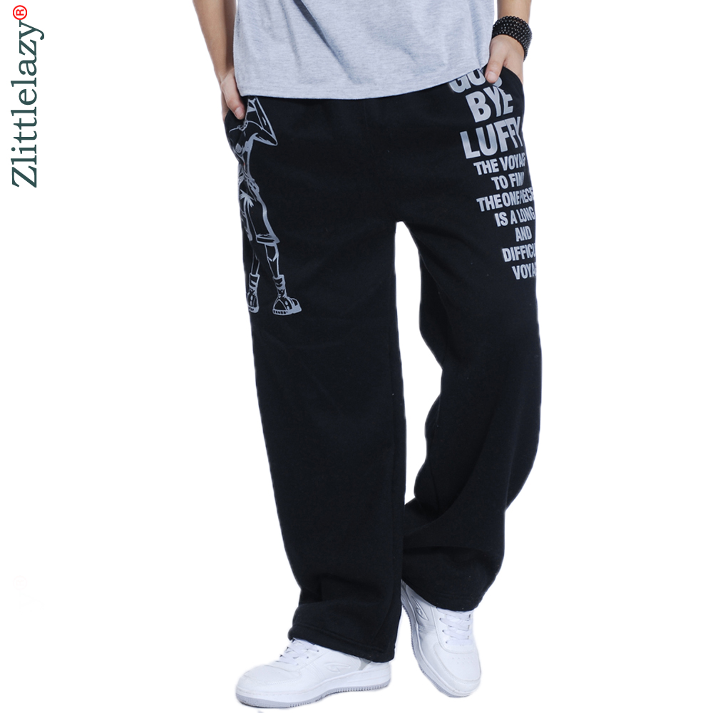 2019 Fashion Mens Joggers Letter Printed Male Baggy Hip Hop Jogger Pants Open Air Sweatpants Men Trousers Pantalon Homme 5XL A52