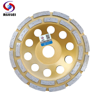 6inch 150mm Double Row Diamond Grinding Wheel Disc Bowl Shape Grinding Cup Discs Concrete Granite Stone